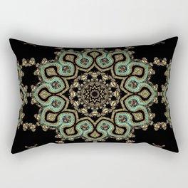 Art Deco No. 8 . The round ornament . Rectangular Pillow