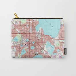 Lakeland Florida Map (1975) Carry-All Pouch
