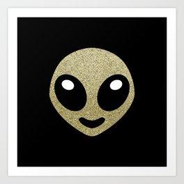 Alien smiley Art Print