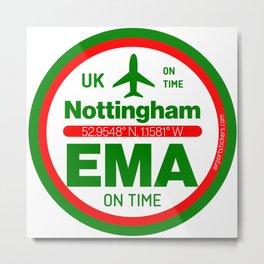EMA, Nottingham airport Metal Print