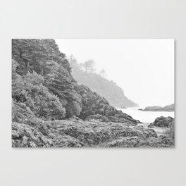 Washington Coast Mist Fog Shoreline Beach Pacific Ocean Long Beach Beards Hollow Forest Northwest Canvas Print