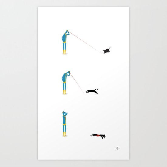 Cyclops' Cat Art Print