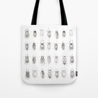bugs Tote Bags featuring Bugs by Emma Kelly