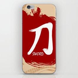 Japanese kanji - Sword iPhone Skin