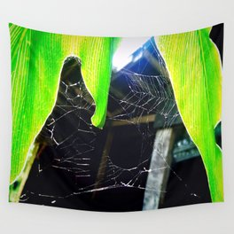 Web of Holes Wall Tapestry