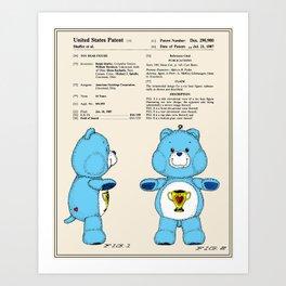 Champ Bear Patent Art Print