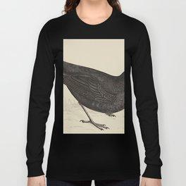 Blackbird. A history of British birds - Rev. F. O. Morris - 1862 Long Sleeve T-shirt