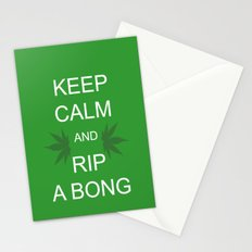 Keep Calm and Rip a Bong Stationery Cards