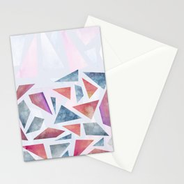 Geometric watercolor pattern Stationery Cards