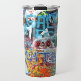 grafitti wall Travel Mug