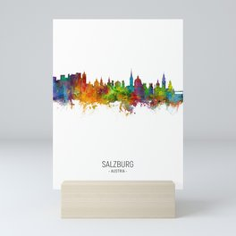 Salzburg Austria Skyline Mini Art Print