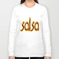 marc Long Sleeve T-shirts featuring Salsa Marc On Fire by Salsa Republic