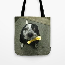 There's a loose seal in the elevator! Tote Bag