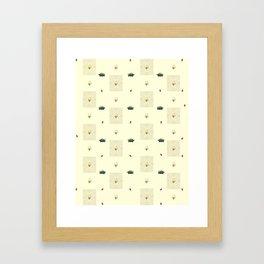 Turtles, Dandelions, And Sweet Potatoes Framed Art Print