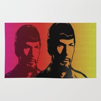 spock Area & Throw Rugs featuring Spock by SVA🌺Silvia Van
