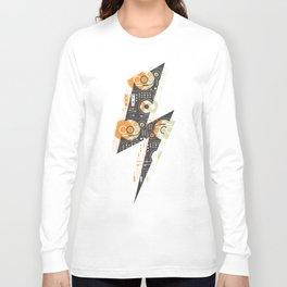 Dj's Lightning Of Vinyl Music Long Sleeve T-shirt