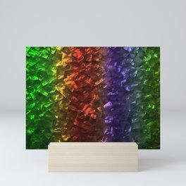 Multi Color Magical Unicorn Rainbow Shimmering Mother of Pearl Mini Art Print