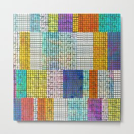 Rainbow Rectangle Tile Pattern Metal Print
