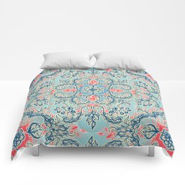 Gypsy Floral in Red & Blue Comforters