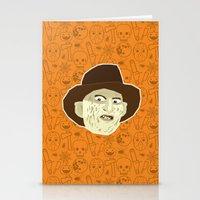 freddy krueger Stationery Cards featuring Freddy Krueger by Kuki