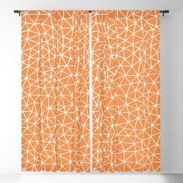 Connectivity - White on Orange Blackout Curtain