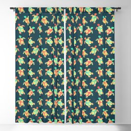 Cute Flower Child Hippy Turtles Blackout Curtain
