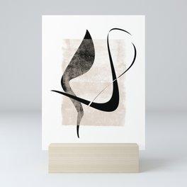 Interlocking Five   Minimalist Line Abstract Mini Art Print