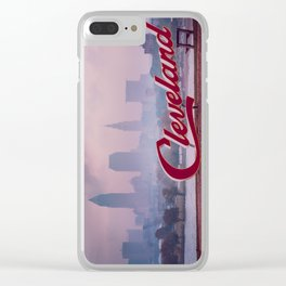 Homesick - Cleveland Skyline Clear iPhone Case