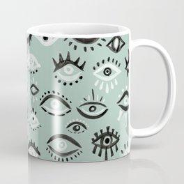 Mystic Eyes – Mint & Black Coffee Mug
