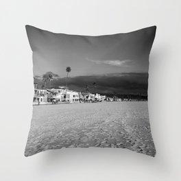 Newport Beach Houses Throw Pillow