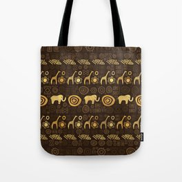 Ethnic African Pattern- browns and golds #1 Tote Bag