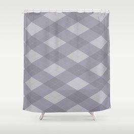 Pantone Lilac Gray Argyle Plaid Diamond Pattern Shower Curtain