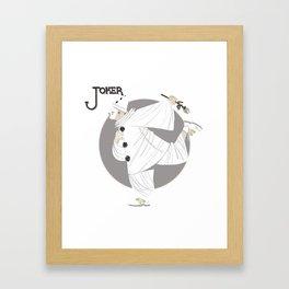 Joker / Pierrot Framed Art Print