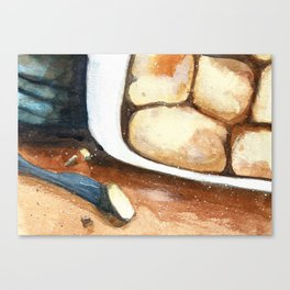 Making biscuits Canvas Print