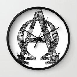 Alpha/Omega Wall Clock