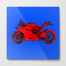 abstract motorcycle art Metal Print
