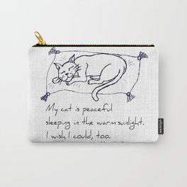 Cat Nap Haiku Carry-All Pouch