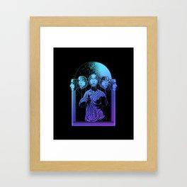 full moon goddess Framed Art Print