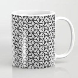 Black, White and Gray Pinwheel Coffee Mug