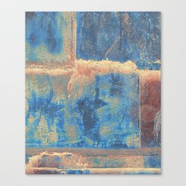 Rusted Metal Plates Abstract Canvas Print