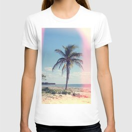 Palm Tree Light Leak Color Nature Photography T-shirt