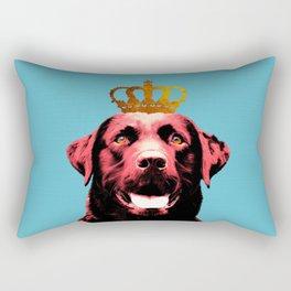 Dog with a crown. Rectangular Pillow