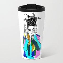 basquiat color Travel Mug
