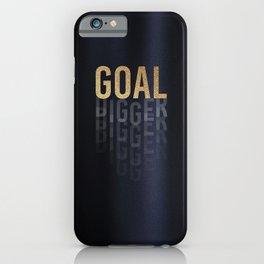 Goal Digger - Gold on Black iPhone Case