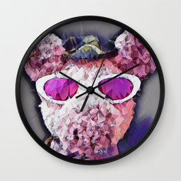 """Pinky the Pig Polygon Portrait"" Wall Clock"