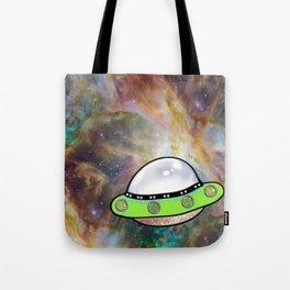 UFO Nebula {Unidentified Flying Object} Tote Bag