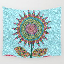 Fabby Flower-Eden colors Wall Tapestry