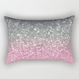 Gray and Light Pink Rectangular Pillow