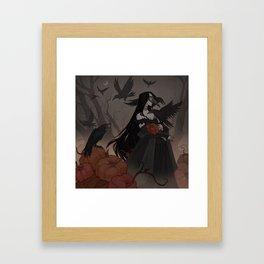 Drawlloween Harvest Time Framed Art Print