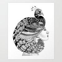 Peacock Cleopatra Art Print